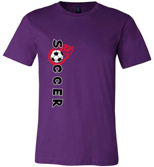 Sports Soccer Niche T-Shirt - Soccer Flame - Purple