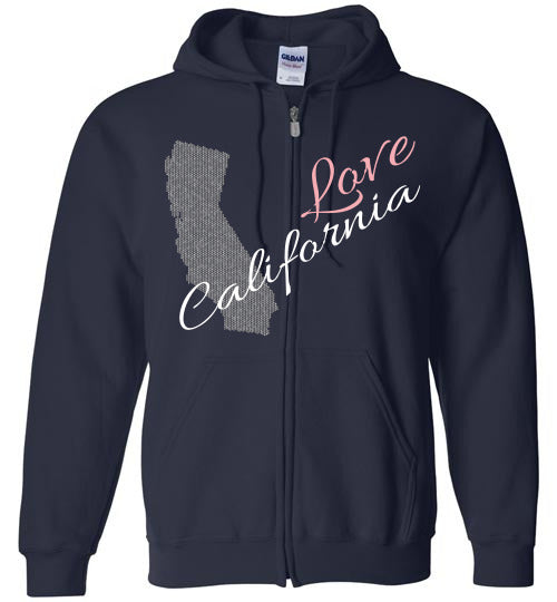 Cool Hoodie For Men - Love California - Navy