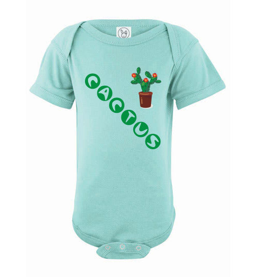 Infant/Baby Short Sleeve Bodysuit - Cactus - Chill