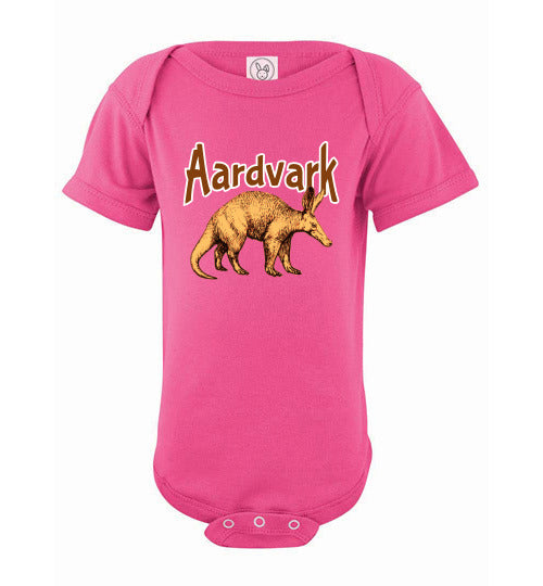 Infant Bodysuit - Aardvark - Hot Pink