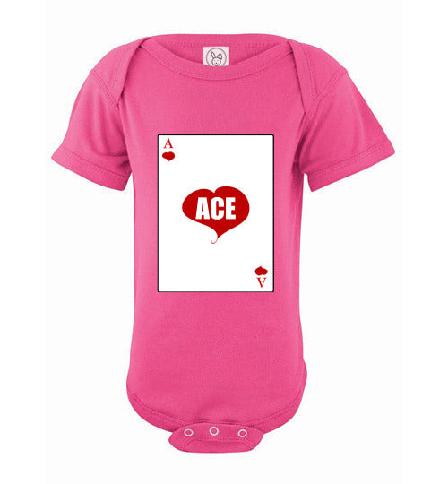 Infant/Baby Short Sleeve Bodysuit - Ace - Hot Pink