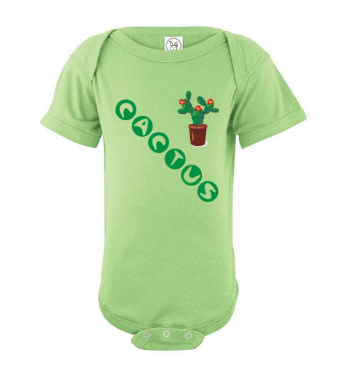 Infant/Baby Short Sleeve Bodysuit - Cactus - Key Lime