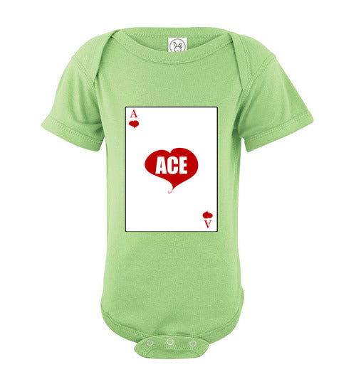Infant/Baby Short Sleeve Bodysuit - Ace - Key Lime