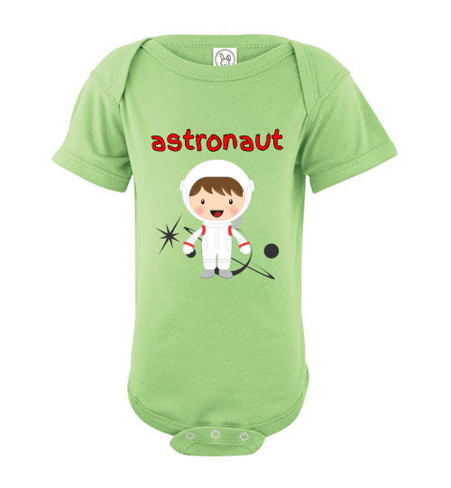 Infant/Baby Bodysuit - Astronaut - Key Lime