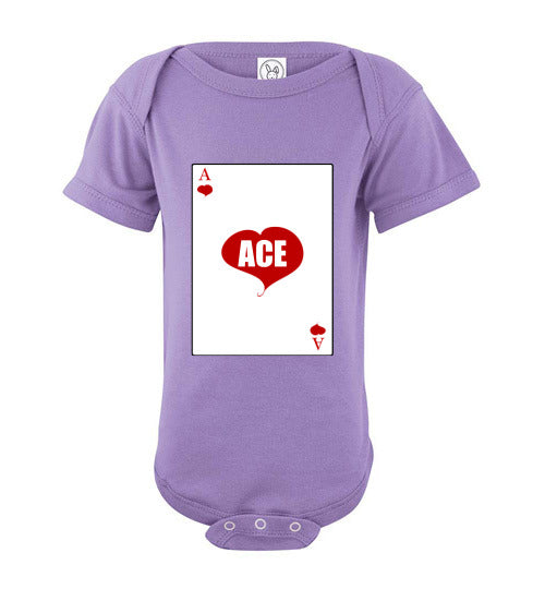 Infant/Baby Short Sleeve Bodysuit - Ace - Lavender