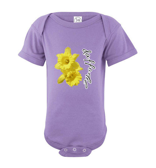 Infant Short Sleeve Bodysuit - Daffodil - Lavender