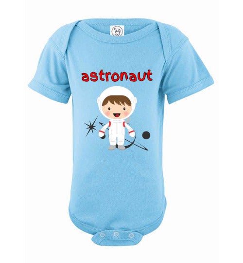 Infant/Baby Bodysuit - Astronaut - Light Blue