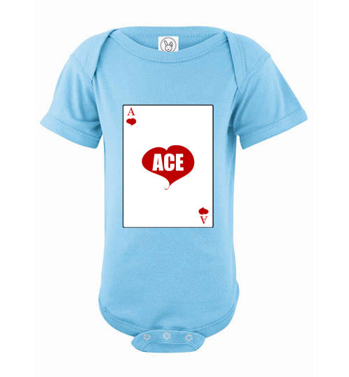 Infant/Baby Short Sleeve Bodysuit - Ace - Light Blue
