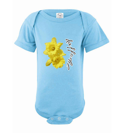 Infant Short Sleeve Bodysuit - Daffodil - Light Blue