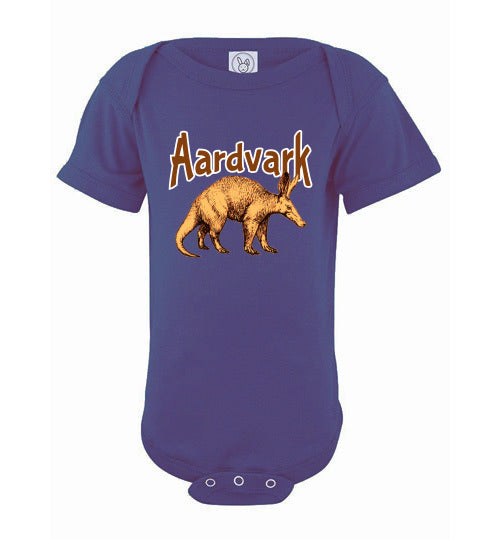 Infant Bodysuit - Aardvark - Purple