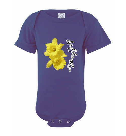 Infant Short Sleeve Bodysuit - Daffodil - Purple
