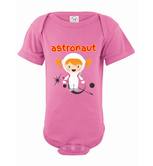 Infant Bodysuit - Astronaut- Pink