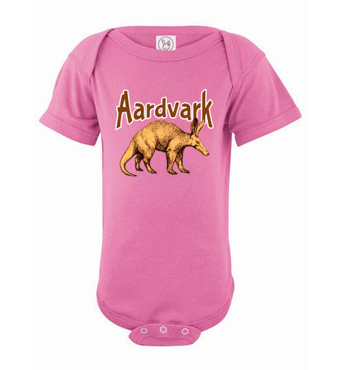 Infant Bodysuit - Aardvark - Raspberry
