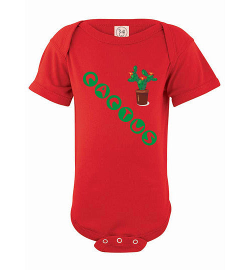 Infant/Baby Short Sleeve Bodysuit - Cactus - Red