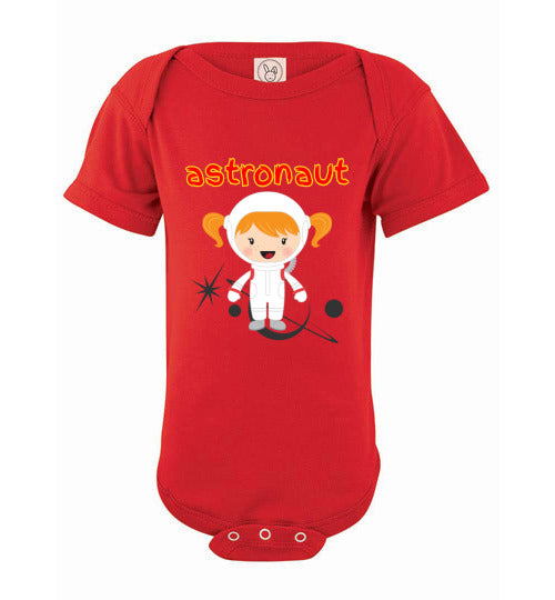 Infant Bodysuit - Astronaut - Red
