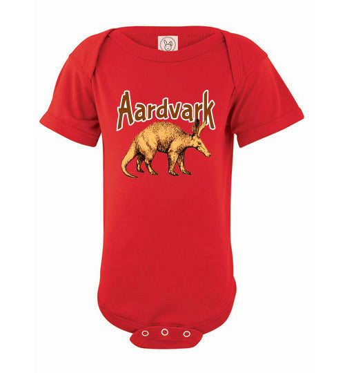 Infant Bodysuit - Aardvark - Red