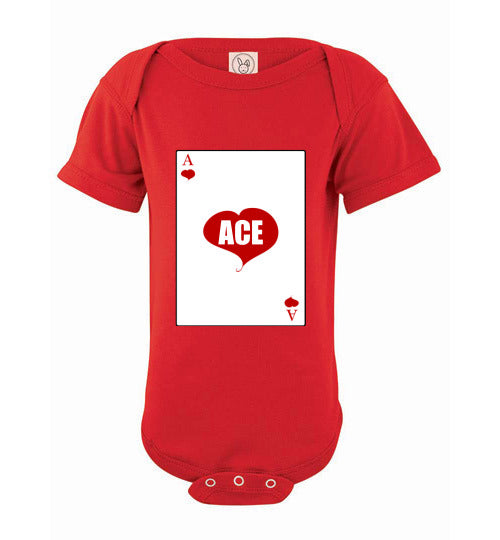Infant/Baby Short Sleeve Bodysuit - Ace - Red
