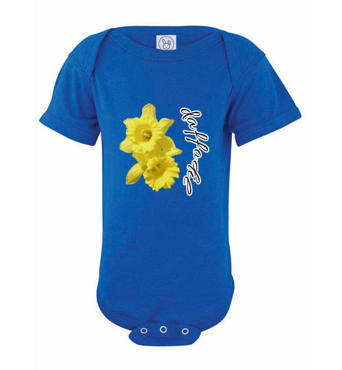 Infant Short Sleeve Bodysuit - Daffodil - Royal