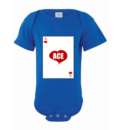 Infant/Baby Short Sleeve Bodysuit - Ace - Royal