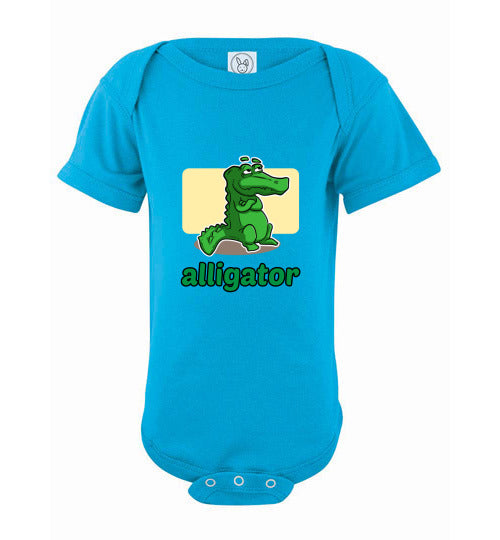 Infant Short Sleeve Bodysuit | Alligator