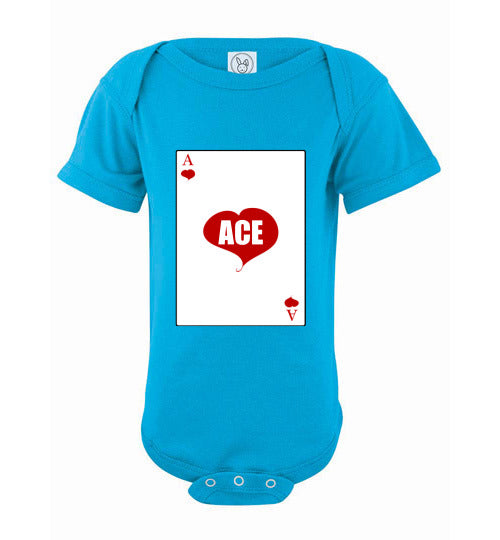 Infant/Baby Short Sleeve Bodysuit - Ace - Turquoise
