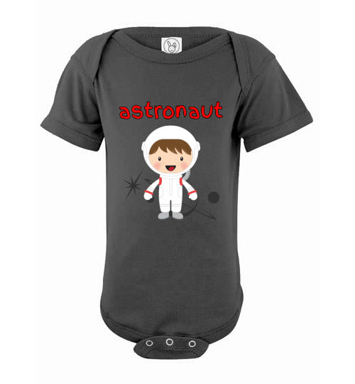 Infant/Baby Bodysuit - Astronaut - Charcoal