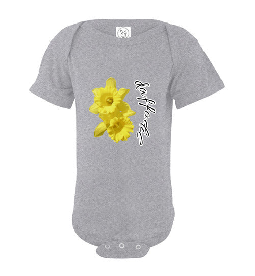 Infant Short Sleeve Bodysuit - Daffodil - Heather