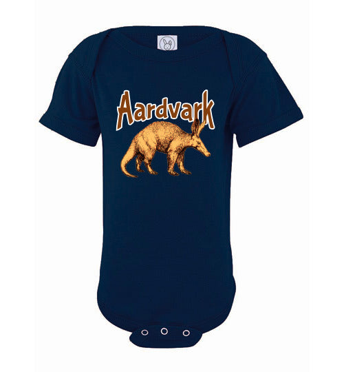 Infant Bodysuit - Aardvark - Navy