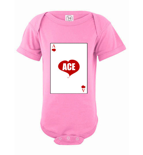 Infant/Baby Short Sleeve Bodysuit - Ace - Pink