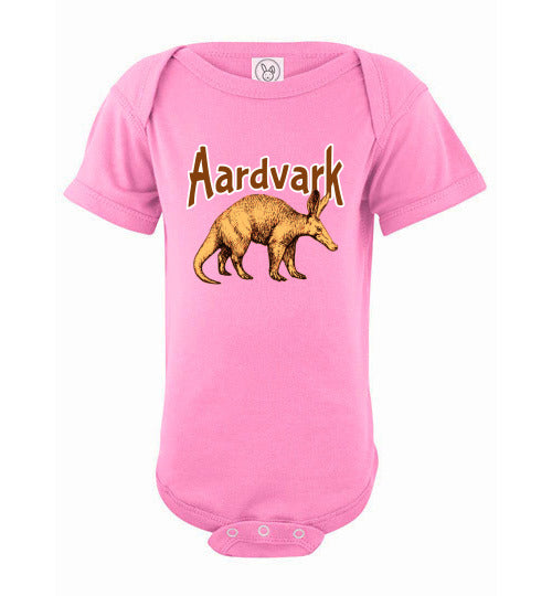 Infant Bodysuit - Aardvark - Pink