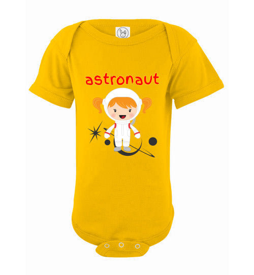 Infant Bodysuit - Astronaut - Yellow