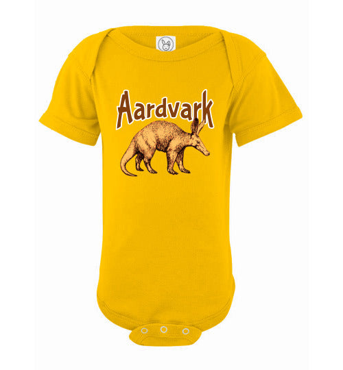 Infant Bodysuit - Aardvark - Yellow
