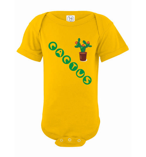 Infant/Baby Short Sleeve Bodysuit - Cactus - Yellow