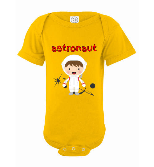 Infant/Baby Bodysuit - Astronaut - Yellow