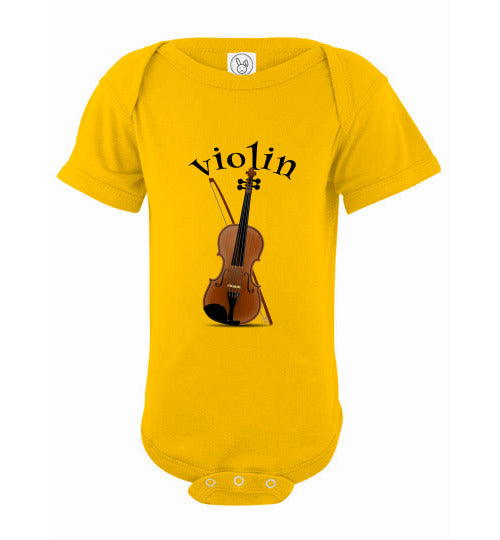 Infant / Baby Bodysuit or Onesie | Violin