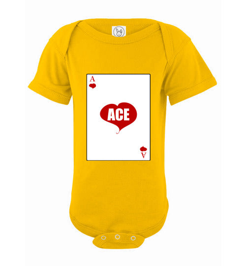 Infant/Baby Short Sleeve Bodysuit - Ace - Yellow
