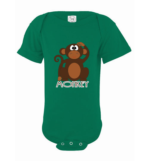Infant Short Sleeve Bodysuit | Monkey