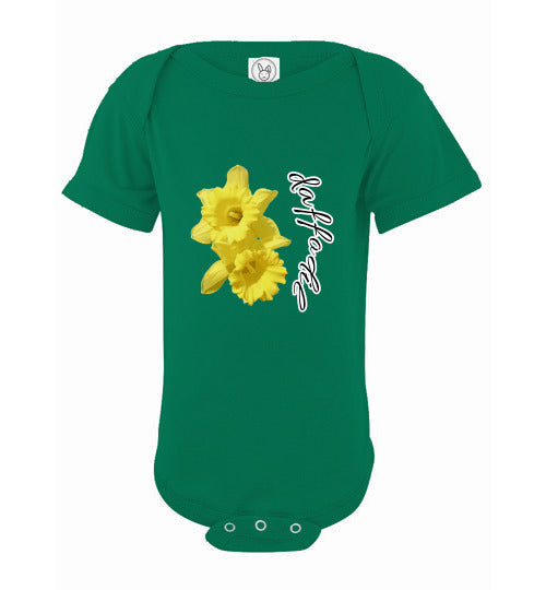 Infant Short Sleeve Bodysuit - Daffodil - Kelly