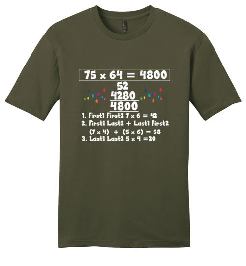 T-Shirt Wordings - Simple Math - 75 x 64