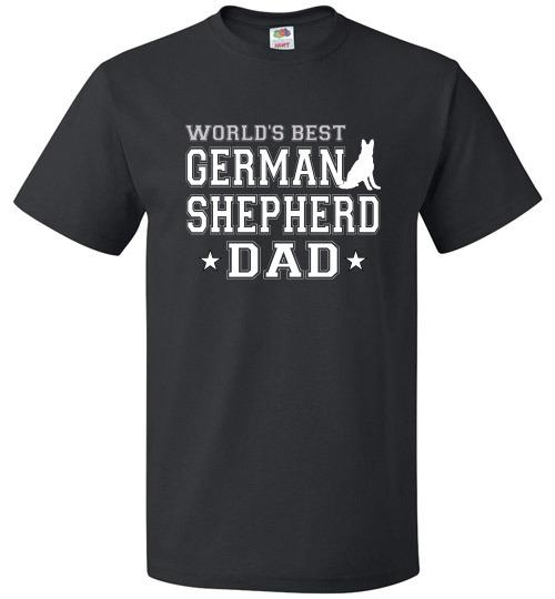 FOL Dog Unisex T-Shirt | World's Best German Shepherd Dad - Black