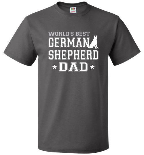 FOL Dog Unisex T-Shirt | World's Best German Shepherd Dad - Charcoal Grey