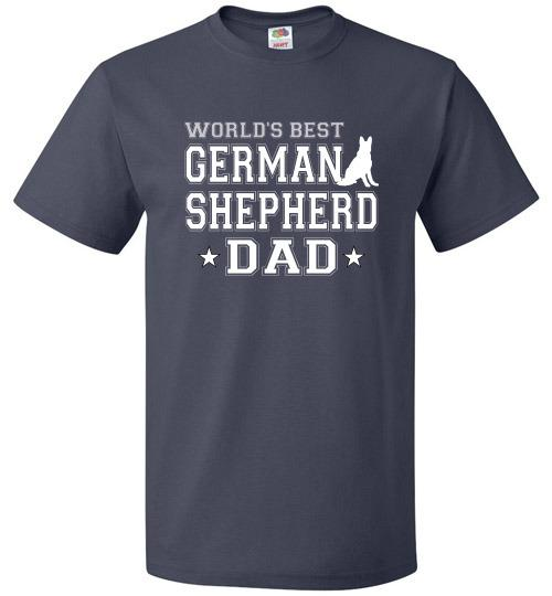 FOL Dog Unisex T-Shirt | World's Best German Shepherd Dad - J Navy