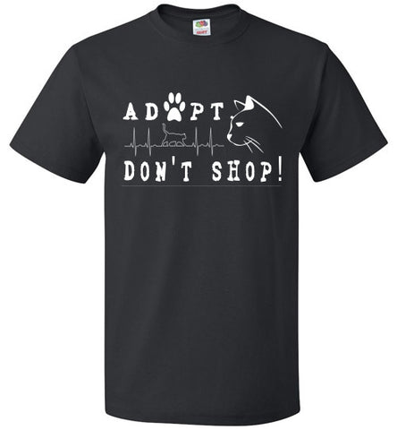 FOL Unisex T-shirt | Adopt. Don't Shop! - Black