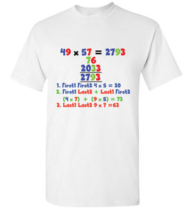 T-Shirt Wordings - Simple Math - 49x57