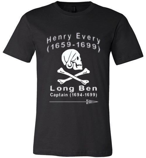 Pirates T-Shirt | Henry Every Long Ben - Black