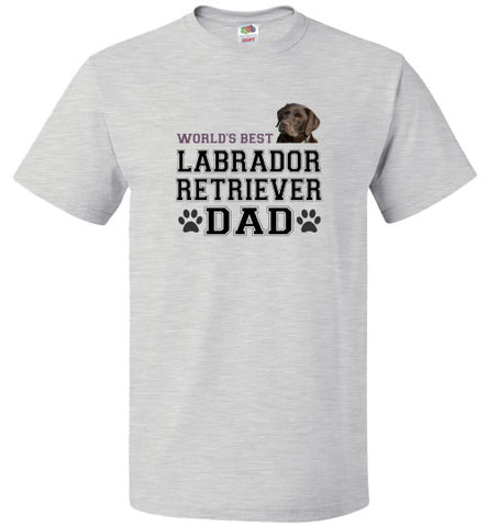 FOL Dog Unisex T-Shirt | World's Best Labrador Retreiver Dad - Ash