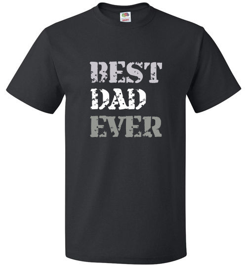 FOL Unisex Family T-Shirt | Best Dad Ever - Black