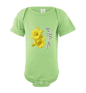 Infant Short Sleeve Bodysuit - Daffodil - Key Lime