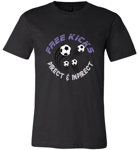 Sports Soccer Niche T-Shirt - Free Kick - Black