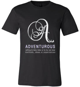 Canvas Unisex T-Shirt | Adventurous - Black